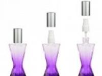 Флакон Винсент (35мл) фиолетовый, пласт.помпа+пласт.спрей