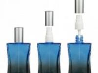 Флакон Да Винчи (50мл) синий, пласт.помпа серебро