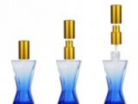 Флакон Винсент (35мл) голубой, мет.помпа+мет.спрей