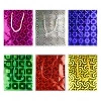 Подарочный пакет - голография(8*10) mini