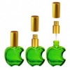 Флакон Эпл (15мл), зеленый + мет.спрей